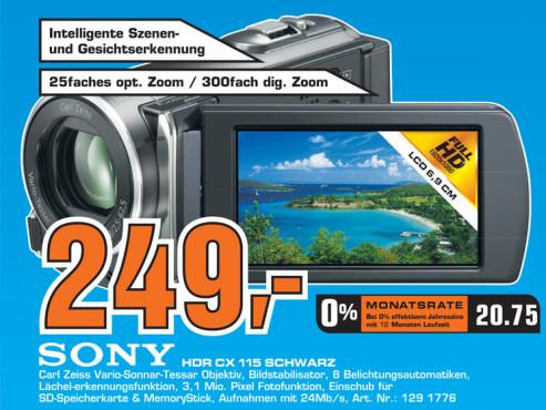 Sony HDR-CX115 Schwarz ©Saturn
