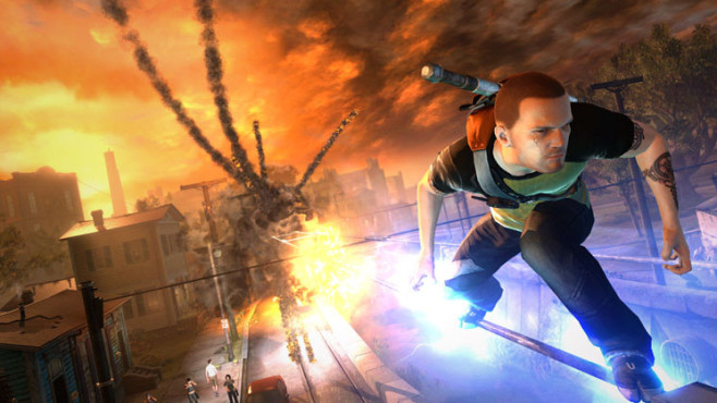 Actionspiel Infamous 2: Explosion © Sony