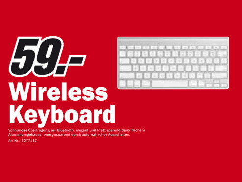 Apple Wireless Keyboard © Media Markt