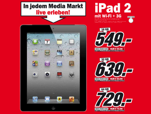 Apple iPad 2 (WiFi, 3G) © Media Markt