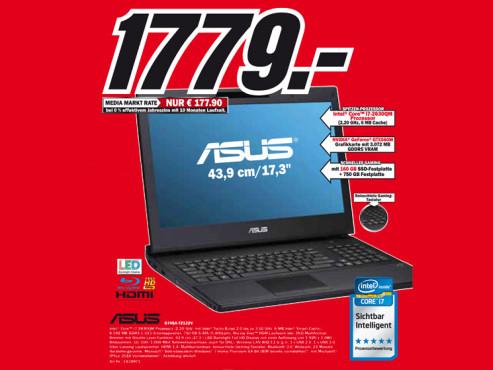 Asus G74SX-TZ122V ©Media Markt