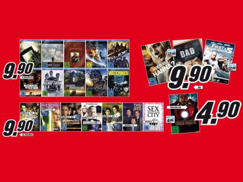 Blu-rays und Staffeln ©Media Markt