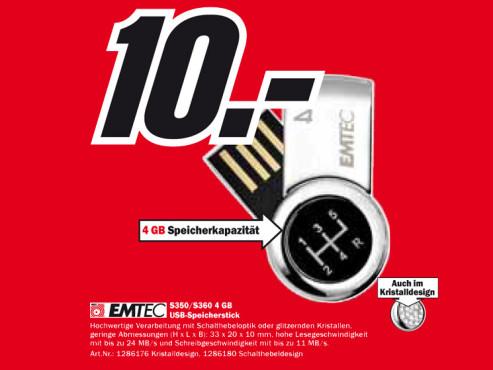 Emtec S350/S360 4 GB ©Media Markt