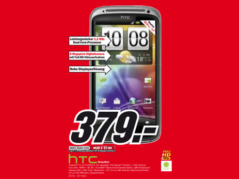 HTC Sensation © Media Markt