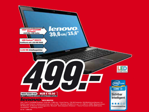Lenovo G570 M519TGE ©Media Markt