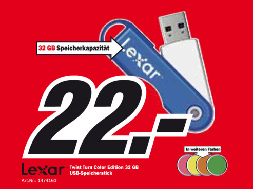 Lexar JumpDrive TwistTurn 32GB © Media Markt