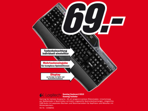 Logitech Gaming Keyboard G510 © Media Markt