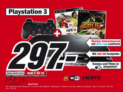 Sony Playstation 3 – Sport Pack © Media Markt