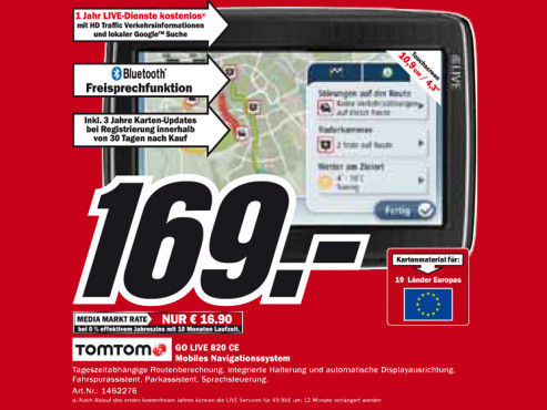 TomTom Go Live 820 Central Europe © Media Markt