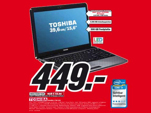 Toshiba Satellite L750-1UX ©Media Markt