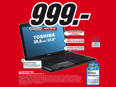 Toshiba Satellite P750-142 © Media Markt