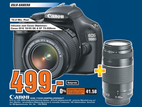 Canon EOS 1100D Kit 18-55 mm + 75-300 mm ©Saturn