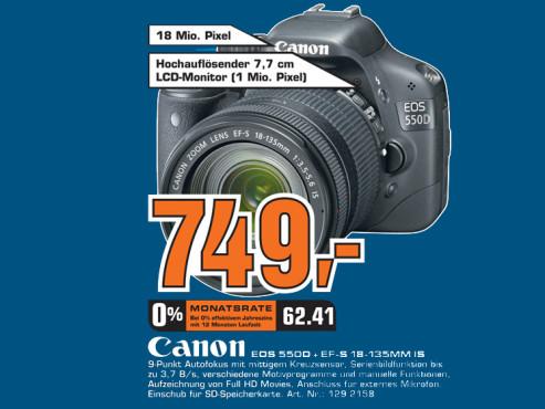 Canon EOS 550D Kit 18-135 mm ©Saturn
