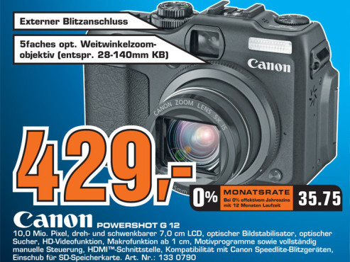 Canon PowerShot G12 ©Saturn