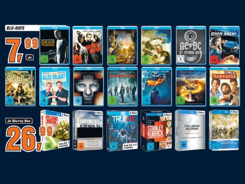 Diverse Blu-ray-Filme und -Boxen ©Saturn