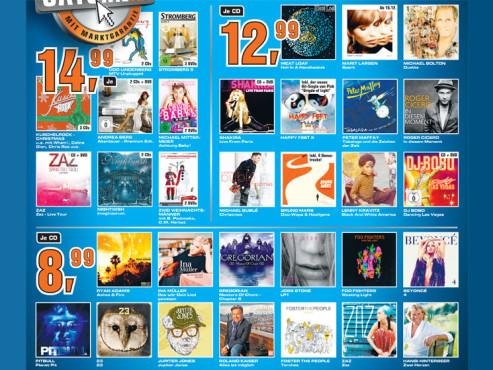 Diverse CD-Alben und DVDs ©Saturn
