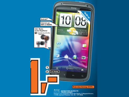 HTC Sensation XE mit Beats Audio ©Saturn