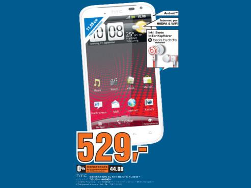 HTC Sensation XL mit Beats Audio ©Saturn