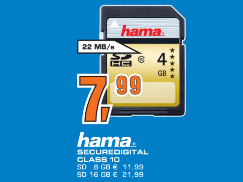 Hama SDHC Card HighSpeed Gold 4 GB Class 10 © Saturn