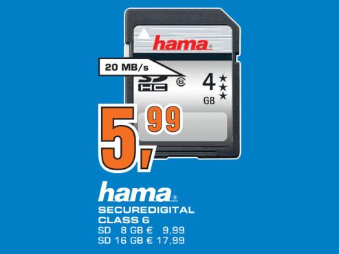 Hama SDHC Card HighSpeed Pro 4 GB Class 6 ©Saturn