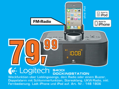 Logitech Clock Radio Dock S400i © Saturn