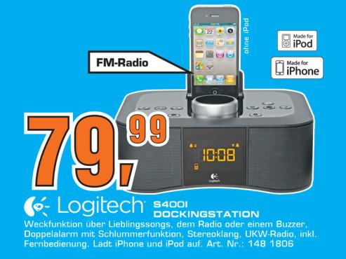 Logitech Clock Radio Dock S400i ©Saturn