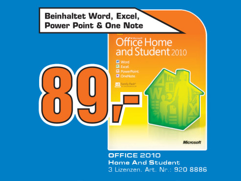 Microsoft Office 2010 – Home and Student ©Saturn