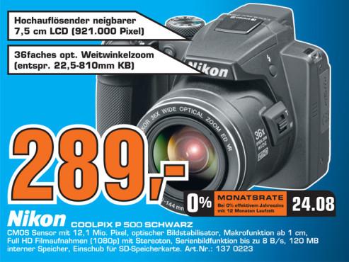 Nikon Coolpix P500 ©Saturn