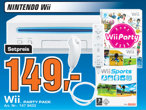 """Nintendo Wii Family Edition (""""Party Pack"""") ©Saturn"""