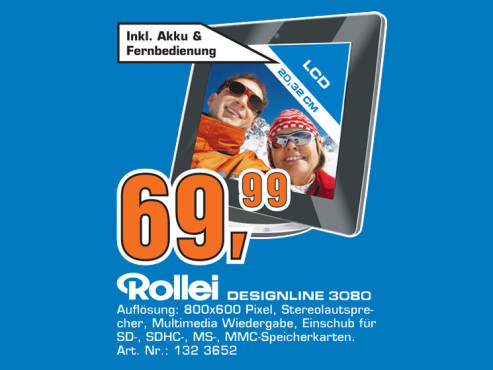 """Rollei Designline 3080 8"""" ©Saturn"""