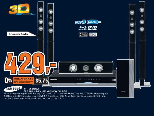 Samsung HT-D5550 ©Saturn
