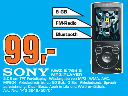 Sony NWZ-S764 8GB schwarz ©Saturn