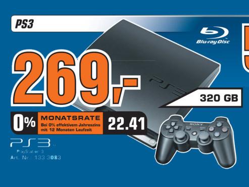 Sony Playstation 3 (PS3) slim 320GB ©Saturn
