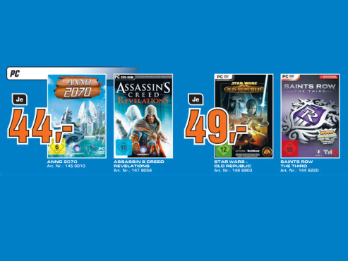 Spiele-Angebote für den Desktop-PC ©Saturn
