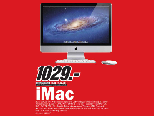 Apple iMac 21,5 Zoll © Media Markt