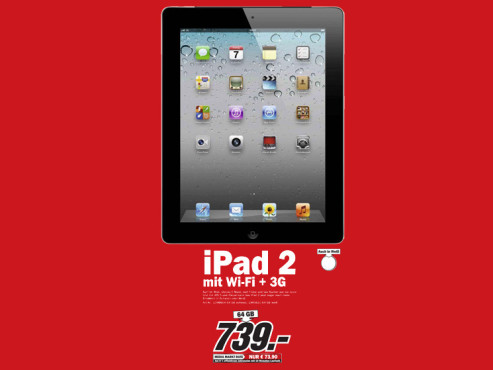 Apple iPad 2 64GB WiFi + 3G © Media Markt