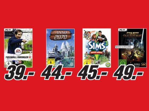 Diverse PC-Spiele ©Media Markt