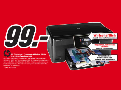 Hewlett-Packard HP Photosmart Premium C310a © Media Markt
