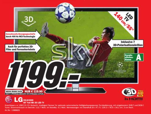 LG 55LW4500 ©Media Markt