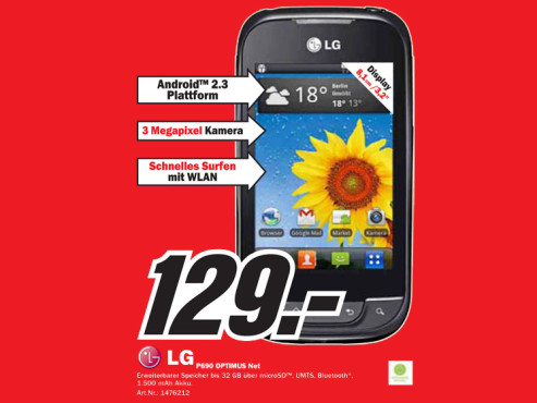 LG Optimus Net (P690) ©Media Markt