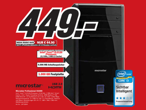 Microstar Professional I31000 ©Media Markt