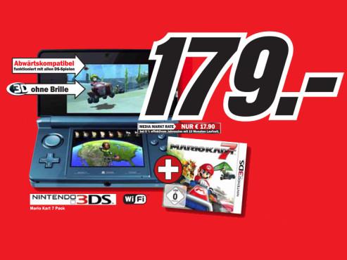 Nintendo 3DS mit Spiel ©Media Markt