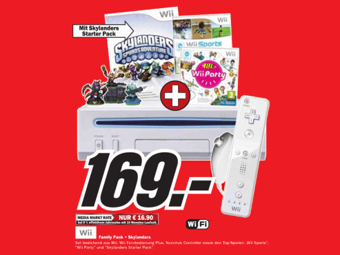 Nintendo Wii – Family Pack plus Skylanders: Spyro's Adventure – Starter Pack © Media Markt
