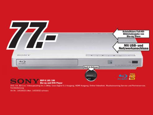 Sony BDP-S185/BDP-S186 ©Media Markt