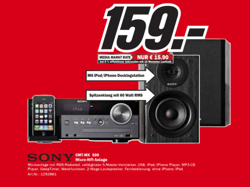Sony CMT-MX500i © Media Markt