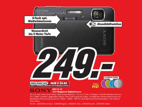 Sony Cybershot DSC-TX10 ©Media Markt