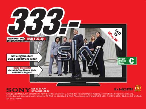 Sony KDL-32BX420 ©Media Markt