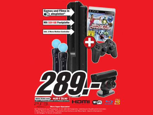 Sony Playstation 3 320GB © Media Markt