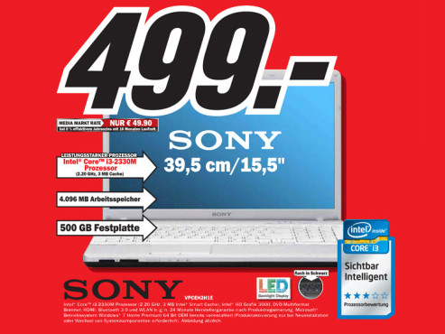 Sony Vaio VPCEH2H1E/W ©Media Markt