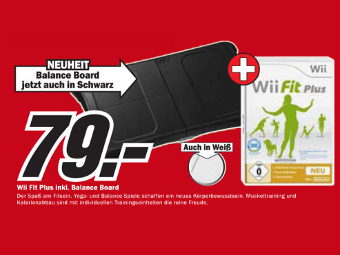 Wii Fit Plus + Balance Board (Wii) © Media Markt